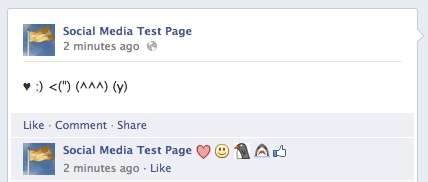 Emoticons Appearing In Facebook Comments