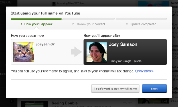 YouTube makes it easier to link to Google+