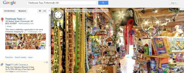 Google puts businesses' interiors inside search results