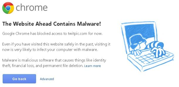 TwitPic snared by Google's malware detector